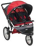 Schwinn Free Wheeler AL Double Swivel Wheel Jogger Stroller (Red/Black)