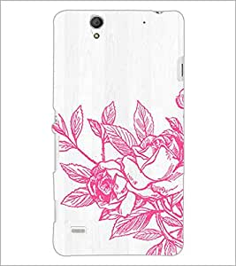 PrintDhaba Flower D-2173 Back Case Cover for SONY XPERIA C4 (Multi-Coloured)