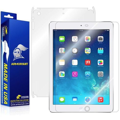 Buy ArmorSuit MilitaryShield - Apple iPad Air Screen Protector Shield Ultra Clear + Full Body Skin P...