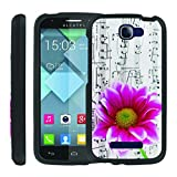 [ManiaCase] [GUARD] Design Graphic Image Shell Cover Hard Case (Pink Flower Music) for Alcatel one touch fierce 2 7040T / Pop Icon A564C