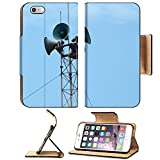 Luxlady Premium Apple iPhone 6 Plus iPhone 6S Plus Flip Pu Leather Wallet Case horn speaker tower with blue sky IMAGE 21302349