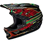 Troy Lee Designs Sam Hill CF D3 Carbon Bike Sports BMX Helmet - Black / Small