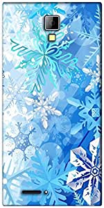 Snoogg snowflakes pattern 2534 Designer Protective Back Case Cover For Micromax Canvas Express A99