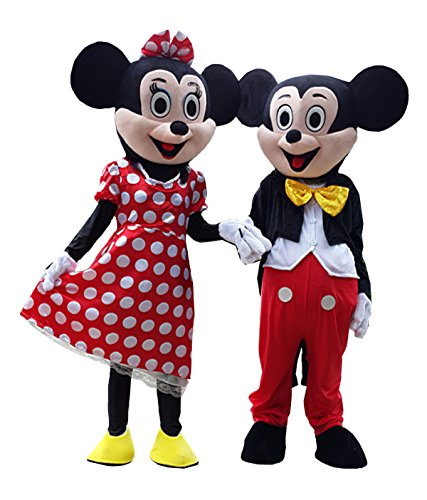 Mickey & Minnie Mouse Mascot Cartoon Character Cosplay Costumes