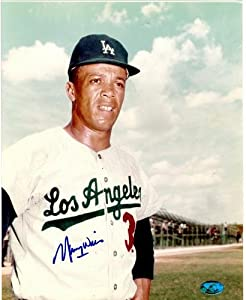 Maury Wills autographed 8x10 Photo (Los Angeles Dodgers 1959 1963 1965 World Series...