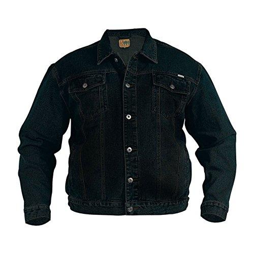 Duke Men's Big & Tall Trucker Black Stonewashed Kingsize Denim Jean Jacket 5XL Big Tall Denim Jackets