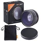 広角レンズ 52mm、K&F Concept® ワイドレンズ 52MM 0.45x マクロレンズ カメラ用レンズ デジタルカメラ 一眼レフカメラ Canon Nikon Petax Sonyなど用