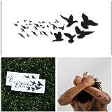 Birds - temporary tattoo (Set of 2)
