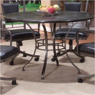 Buy Low Price Hillsdale Auckland Dining Table With Wood Top Grey Stone Bla