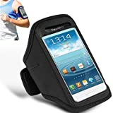 Nokia Asha 210 Black Adjustable Armband Gym Running Jogging Sports Case Cover Holder + Polishing Cloth