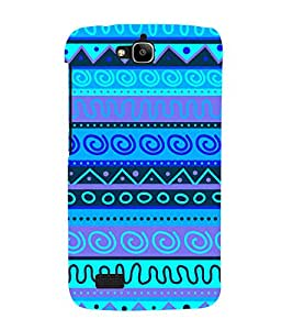 Indian Blue Tribal Art 3D Hard Polycarbonate Designer Back Case Cover for Huawei Honor Holly :: Honor Holly