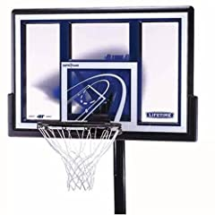 Buy Lifetime 1079 Height Adjustable In-Ground Basketball System with 48-Inch Backboard by Lifetime