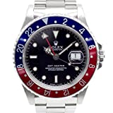 ROLEX ロレックス GMTマスター 16700 U番 赤青ベゼル 黒文字盤 ステンレススチール メンズ腕時計 箱付き 中古