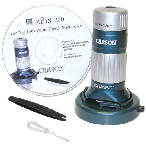 Carson Mm-740 Zpix(Tm) 200 Usb Digital Microscope With 36X - 176X Optical Zoom