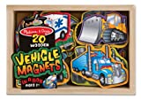 Melissa & Doug Wooden Vehicle Magnets In A Box (20 pieces)