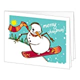 Amazon Gift Card - Print - Merry Christmas (Snowboarding Snowman)