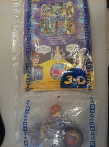 McDonald's Happy Meal Spy Kids 3-D Juni on Cycle Toy w/3-D Comic and Glasses #2 2003