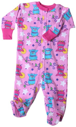New Jammies Baby-Girls Newborn Snap Front Footie Romper, Starry Night Owls, 3 Months