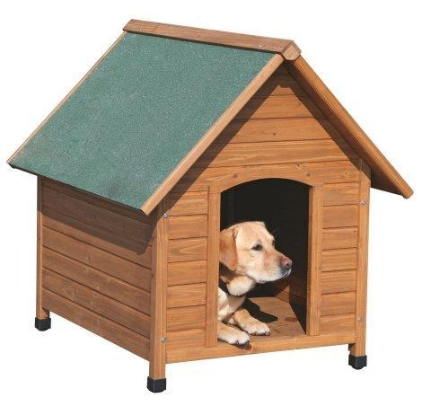 Hundehtte-aus-Kiefer-Holz-wetterfest-mit-Bitumendach-100-x-88-x-99-cm-Hunde-Htte-hhenverstellbare-Fe