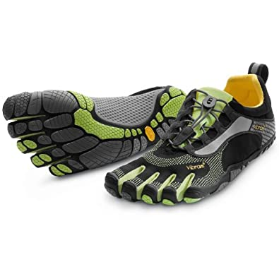 Vibram Vibram Fivefingers Men's Bikila Ls Running Shoes, Black/Green, Us 47
