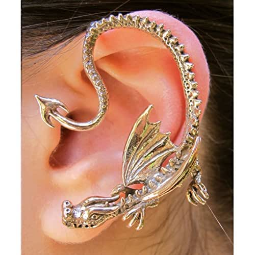 Dragon ear wrap game of thrones inspired throne dragon ear wrap bronze non pierced - Game of thrones dragon ear cuff ...