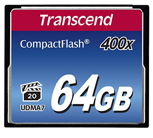 Transcend 64 Go Carte Mémoire CompactFlash (CF) UDMA 7 400x TS64GCF400