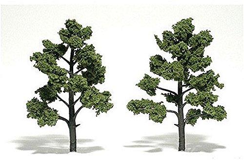 """Light Green Ready Made Trees 5"""" - 6"""" Woodland Scenics"""
