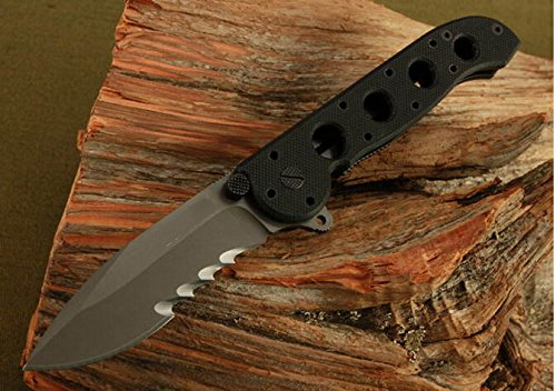 Serrated Tactical Survival Rescue Camping Hunting Folding Sharp Knife Glbym21-7.48''