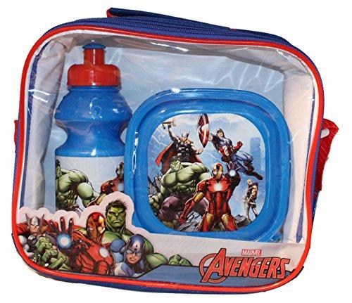 Marvel Avengers-Set colazione-Borraccia + Contenitore per il pranzo con borsa