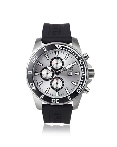 Invicta Men's 10920 Specialty Black/Silver Polyurethane Watch