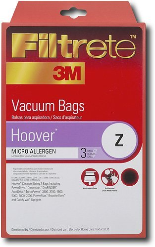 Hoover Z Microallergen Bags, 3 Bags Per Pack, By Filtrete front-367891