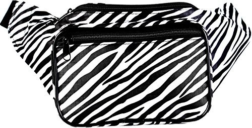 SoJourner Bags Zebra Fanny Pack - Black and White (Pattern Fanny Pack compare prices)