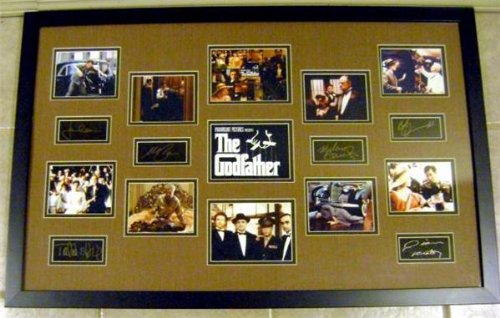 autograph-warehouse-97382-the-godfather-framed-and-matted-laser-signatures-al-pacino-marlon-brando-j