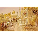 Akal Boonga at the Golden Temple at Amritsar, by William Simpson (V&A Custom Print)