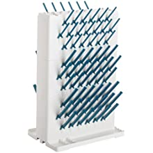 "Bel-Art Scienceware 189330023 Lab-Aire II Double-Sided Non-Electric Benchtop Drying Rack, 14.75"" Width x 10"" Depth x 22.4"" Height"