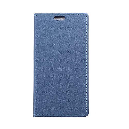 Voguecase® Per Alcatel One Touch Pop 3 5.0(sabbia azul oscuro) Elegante borsa in pelle sintetica Ecopelle PU Custodia Case Cover Protezione chiusura ventosa Con Stilo Penna