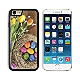 MSD Apple iPhone 6 iPhone 6S Aluminum Plate Bumper Snap Case Easter nest with many colored hen s eggs tulip hyacinth and pussy willow on old wooden board 36010340