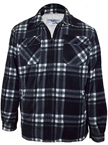 mens-padded-shirt-fur-lined-sherpa-fleece-lumberjack-thick-warm-winter-work-shirt-x-large-black-chec