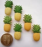Glitter Pineapples - Novelty Craft Buttons & Embellishments by Dress It Up