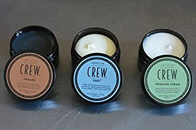 American Crew Men's Complete 3 Piece Hair Grooming Kit, 1 - Forming Cream 3oz, 1 - Fiber 3oz, 1 - Pomade 3oz