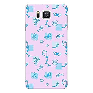 Mobile Back Cover For Samsung Galaxy Alpha G850 (Printed Designer Case)
