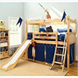 Maxtrix Twin Castle Bed with Slide