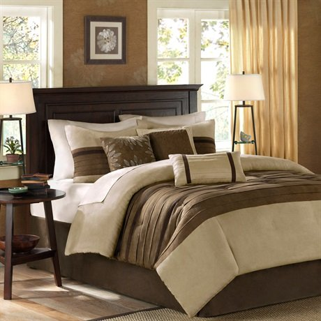 Madison Park Palmer 7 Piece Comforter Set Color: Natural, Size: California King front-622076
