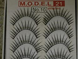 MODEL 21 Lashes False Fake No.14, 10 or 27 Eyelashes 10 Pairs