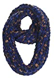 Sakkas SC2019 Life is Beautiful Knit Infinity Scarf - Triple Scoop Blue