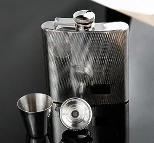 〔携帯用ボトル〕スキットル 高品質ロシアステンレス製ボトル ポータブルフラスコ6オンス180ml