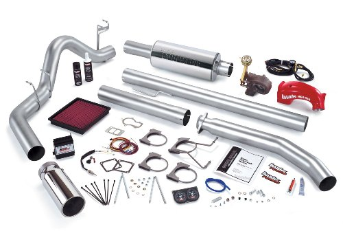 Banks Power 49331 PowerPack System; Performance System; Incl. Ottomind Dsl Tnr/Banks Ram-Air Filter/High-RamManifold/Quick Turbo/Big HeadWastegate Actuator/MonsterExhaust/DynaFactGauges;
