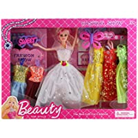 Beautiful Kids Toys With Trendy Dresses Like Barbie Doll Set Toy Baby Gift
