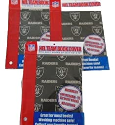 Nfl Team Book Cover Oakland Raiders 3 Pack 8-1/2\