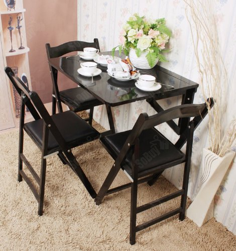 Solid Wood Wall Mounted Drop Leaf Table Folding Dining
